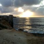 Felsen-Sonnenuntergang