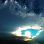 Sonne-über-Wolken