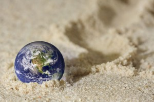 Erde-im-Sand